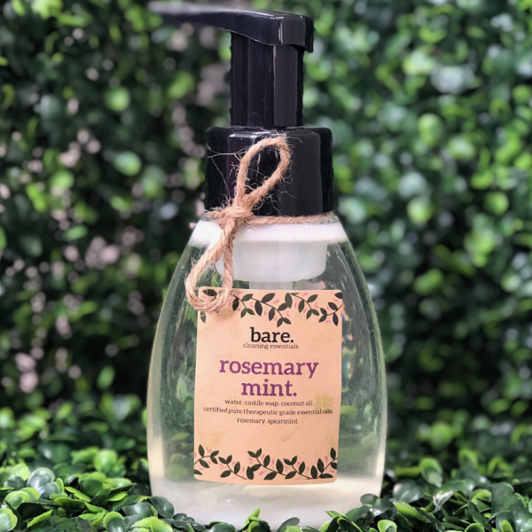 Rosemary-Mint-Foaming-Hand-Soap-250ml-bare.-cleaning-essentials-Foaming-Hand-Soap-100%-natural