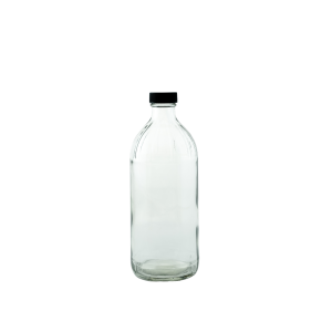 16oz round glass bottle with cap closure - Bare Bottling Company - Misses Clean - Marketplace - 341 Merritt Street - 905-380-0347 - Order Yours Today