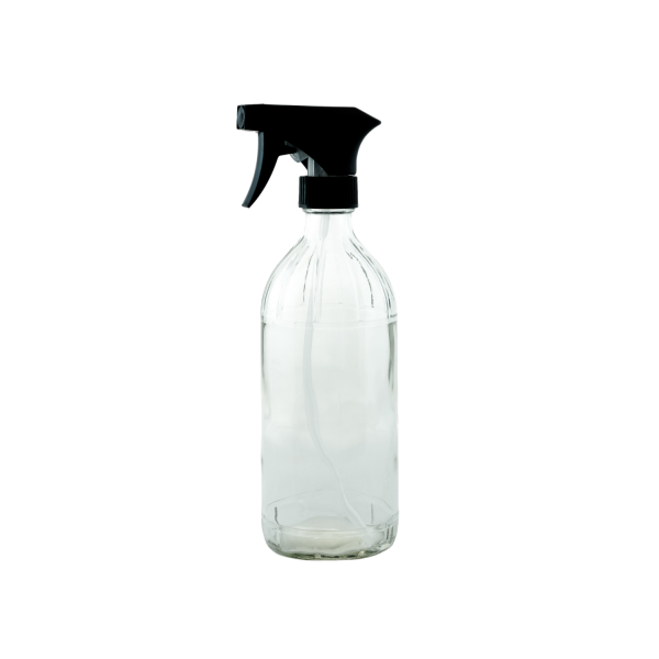 16oz round glass bottle with trigger spray - Bare Bottling Company - Misses Clean - Marketplace - 341 Merritt Street - 905-380-0347 - Order Yours Today