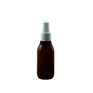 2 oz round amber plastic bottle with fine mist sprayer - Bare Bottling Company - Misses Clean - Marketplace - 341 Merritt Street - 905-380-0347 - Order Yours Today