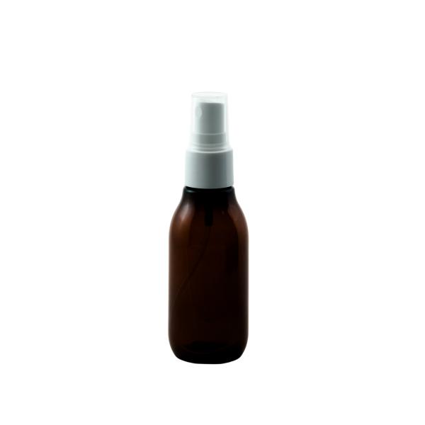 2 oz round amber plastic bottle with fine mist sprayer - Bare Bottling Company - Misses Clean - Marketplace - 341 Merritt Street - 905-380-0347 - Order Yours Today