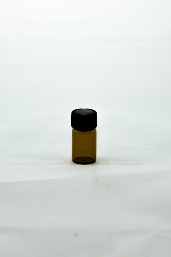 2ml amber round glass essential oil bottle with tamper evident