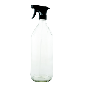 32oz. round glass bottle with trigger sprayer - Bare Bottling Company - Misses Clean - Marketplace - 341 Merritt Street - 905-380-0347 - Order Yours Today