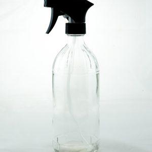 Bare Bottling Company 16oz round glass bottle with trigger sprayer