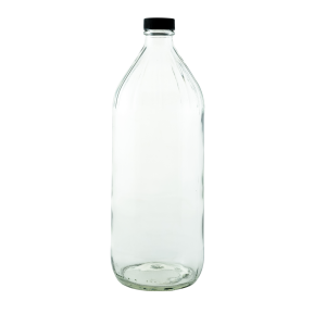 32oz round glass bottle with cap - Bare Bottling Company - Misses Clean - Marketplace - 341 Merritt Street - 905-380-0347 - Order Yours Today